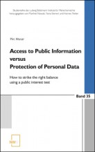 Access to Public Information versus Protection of Personal Data