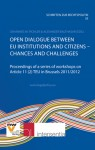Open Dialogue between EU Institutions and Citizens – Chances and Challenges